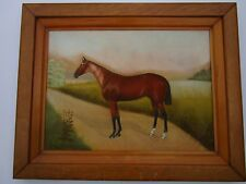 DAN W SMITH ANTIQUE 19TH CENTURY DRAWING EQUINE HORSE BREED LANDSCAPE LISTED