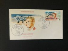 French Polynesia mint cacheted First Day cover - 1977 Charles Lindberg - plane