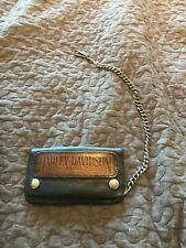 "Vintage Used Harley Davidson 6"" Leather Biker Chain safety Wallet"