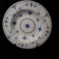 "Vintage Furnivals Blue Denmark 8 3/4"" Rimmed Soup Bowl Made In England Very Good"