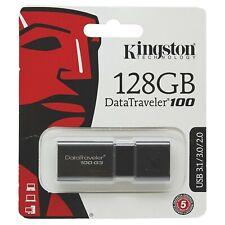 KingstonDT100G3/128GB DataTraveler 100 G3 USB 3.0, 3.1 Flash Drive, 128 GB
