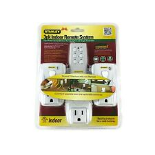 Stanley Wireless Remote System 3 Grounded Outlets 80ft Range Expandable 3PK