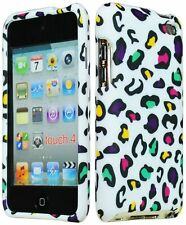 Design Rubberized Hard Case for Apple iPod Touch 4th Gen - Colorful Leopard