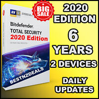 BITDEFENDER TOTAL SECURITY 2020 - 6 YEARS FOR 2 DEVICES ACTIVATION - DOWNLOAD