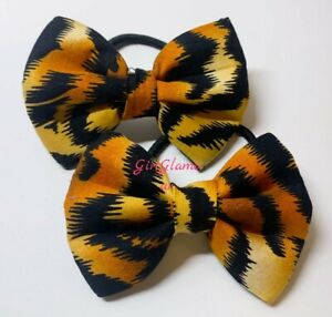Animal Print Bow Bobbles Hairband Hair Elastic Band Dress Shoes Tiger Costume