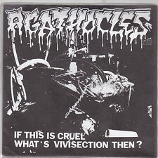 """AGATHOCLES - if this is cruel what's vivisection then EP  7"""" grey vinyl"""