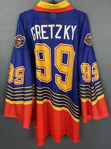 MEN'S WAYNE GRETZKY #99 ST. LOUIS BLUES NHL ICE HOCKEY SHIRT JERSEY SIZE XL