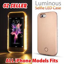 Luminous LED Light Up Flash Selfie Case Cover for Apple iPhone X 8 7 6s Plus 5S