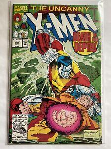 Uncanny X Men 293 Marvel Comics 1992 VF / NM 8.5 - 9.0 Andy Kubert Colossus Cvr