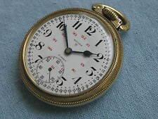 Gotham Vintage 17-jewel 16-size Railroad-Style Pocket Watch, Star 10K Rgp Case