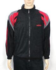 De Colección Adidas Originales Trébol Terciopelo Negro/Rojo Chándal pista Chaqueta Tamaño L S269