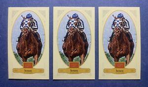 2012 PANINI GOLDEN AGE SECRETARIAT LOT (3) BROAD LEAF BROWN BLUE CANDY RED MINI