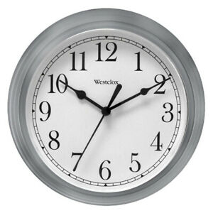 Westclox Wall Clock Simplicity Analog Round Home Office Clock 46984 New, Silver