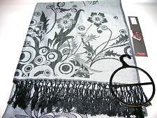 Großer Schal Soft Viscose ca. 70 x 190cm Grau  Neu OVP