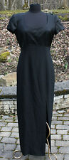 Liz Claiborne Womens Formal Classic Black Dress Sz 10  Night Long Form Fitting
