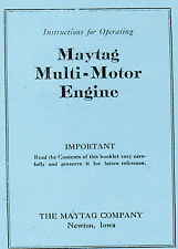 Maytag Multi Motor Gas Engine Motor Washer Book Hit Miss Manual 92 82 72 Fyed4