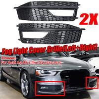 FOR AUDI A4 B8 S-LINE 2012-2015 FOG LIGHT COVER GRILLE LEFT & RIGHT */!