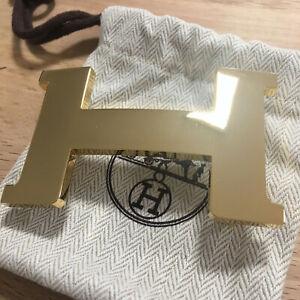 Genuine HERMÈS 38MM H Constance GOLD POLISHED SHINY Belt Buckle