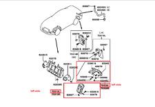 1997-1999 MITSUBISHI 3000GT FRONT LEFT SPLASH GUARD KIT OEM MB698863 MR325569