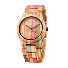 Colored Bamboo Bracelet Watch