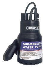 DRAPER 120L/Min 200W 110V Submersible Water Pump w 6M Lift + Float Switch 52064