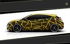 Camouflage Aufkleber Set Cyber Pixel Autotattoo Auto Sticker Tuning JDM 7.2104