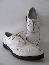 VTG Men's Dress Shoes 9D White Leather ULTIMATE ETONIC USA Caddyshack Wing Tips