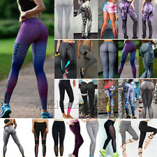 Mujer Yoga Deporte Fitness Leggings Entrenamiento Atletismo Elástico Pantalones