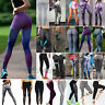Womens Yoga Sports Fitness Leggings Gym Workout Running Stretchy Pants Trousers