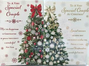 SPECIAL COUPLE CHRISTMAS CARD  ~ CHOICE OF 2 TREE DESIGNS ~ QUALITY CARD