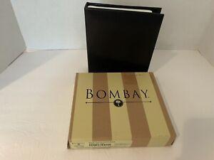 "THE BOMBAY COMPANY BLACK LEATHER PHOTO ALBUM NEW IN BOX 6 1/2""X 5 1/2"""