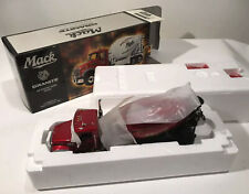 First Gear MP Series Granite Mack Truck Cement Mixer 19-3500R Rare & NIB!!!! Red