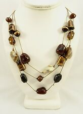 New Multi Strand Necklace with Rich Earthy Fall Colored Stones by Sonoma #N1049