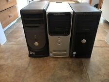 Lot of 3 Dell Desktop Tower Computers Dimension E510 4500 Optiplex E520