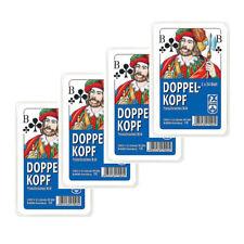 4x Doppelkopf Karten Doppel Kopf Kartenspiel NSV französisches Bild in Hartbox