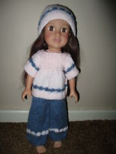Hand knitted clothes to fit a Designafriend Little Sister doll - free postage!