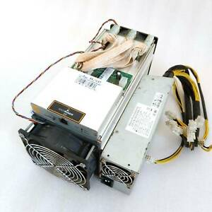AU Bitmain Antminer S9 13.5 TH/s Bitcoin BTC ASIC Miner Including 1600W PSU used
