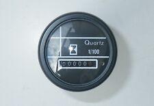 compteur horaire 12 ou 24 volts horamètre noir garantie 3 ans robuste