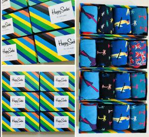 Men's Bird & Palms Cotton Happy Socks 4 Pack With Box Size 7.5/11.5 (EUR 41-46)