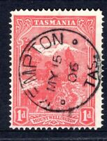 Tasmania nice 1906 KEMPTON postmark (type 1a) on 1d pictorial rated V/C (2)