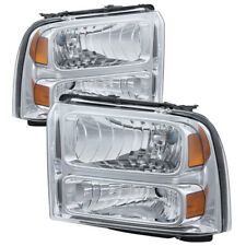 Ford 05-07 F250 F350 F450 SuperDuty Chrome Housing Replacement Headlights