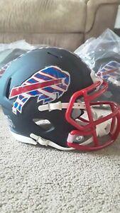 Buffalo Bills Riddle Custom Zubaz Black Matte Speed Mini-Helmet