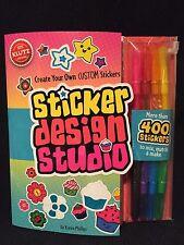 Arts & Crafts Set KLUTZ Children's Sticker Design Studio Creativity Set Ages 8+