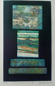 BRENDA HARTILL RE B1943 FINE SIGNED COLLAGED ETCHING 'ELEMENTAL ICON VI' 1995