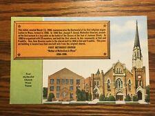 First Methodist Church, Waco Texas, Post Card, , Unposted, Vintage