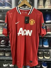 Nike Manchester United Vidic Home Player Issue Jersey / Shirt 2011-12