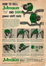 1963 ADVERT 710 Sabra Johnson Fishing Reels 130A