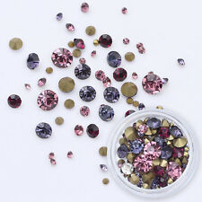 Colorful Sharp Bottom 3D Nail Rhinestones Multi-size Manicure Decoration 3.5g