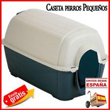Caseta de plastico perros gatos pequeños.Casa perros interior blanco 70x58x50cm