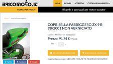 Coprisella Passeggero ZX 9 R 98/2001 NON VERNICIATO